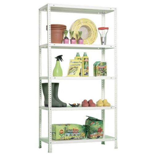Estanter a kit resistente de 5 estantes ideal para tu - Estanterias para trastero ...